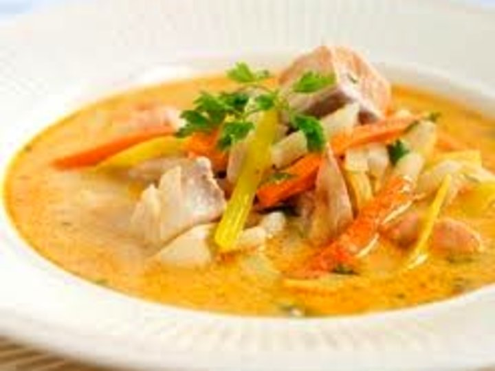 Fiskesuppe med ingefær og chilli