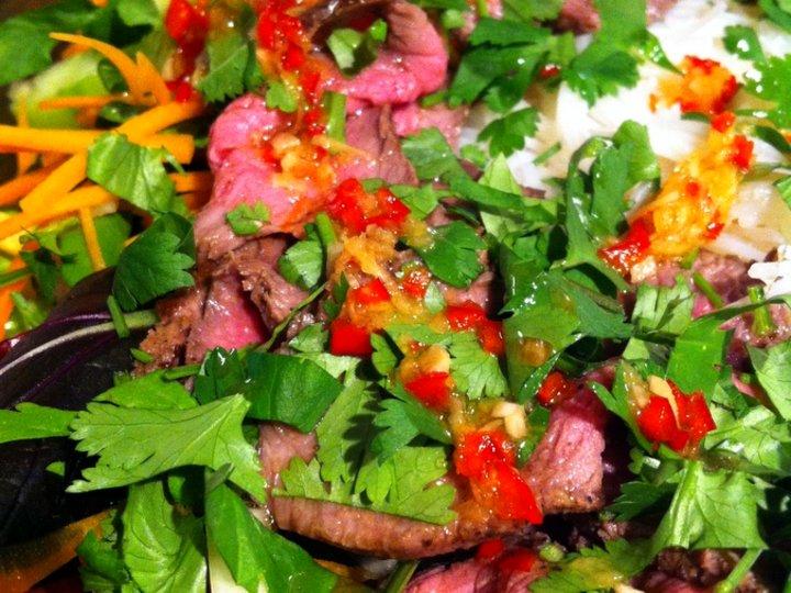 Thailandsk biffsalat made by me...