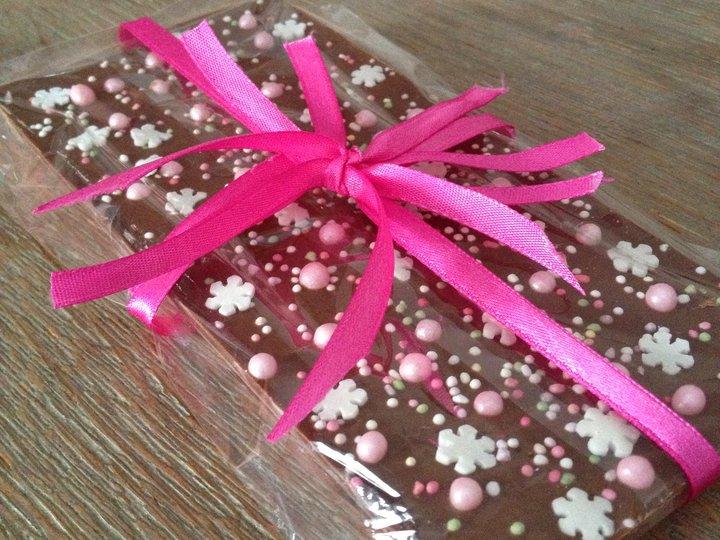 Sukkersøt sjokoladeplate