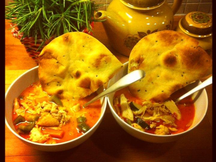 Thai curry kyllingsuppe