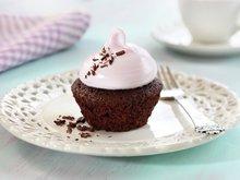 Sjokoladecupcakes med marengsglasur