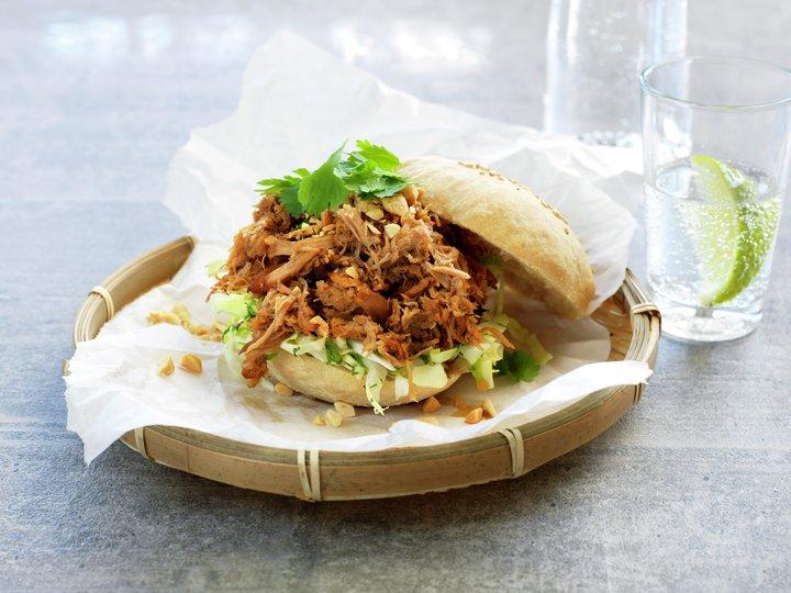 Sandwich med revet kylling