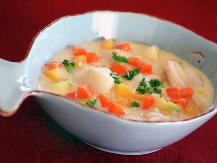Fiskegryte med rotgrønnsaker