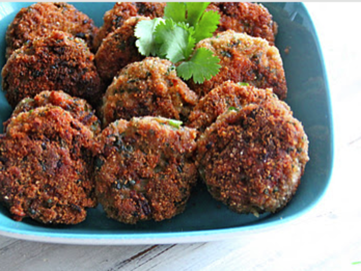 Indisk inspirerte kyllingkaker