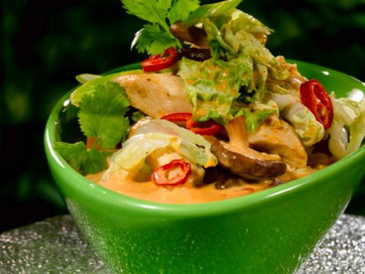 Asiatisk suppe med kylling
