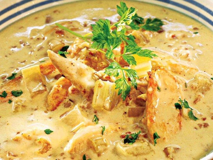 Kyllingsuppe med pasta
