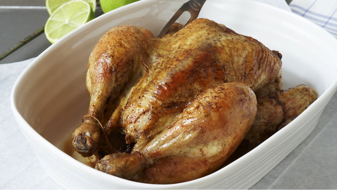 Karibiskinspirert helstekt kylling