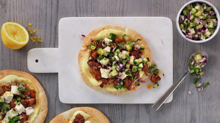 Pitapizza med tandoorikylling