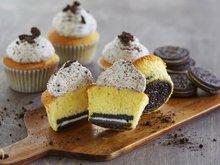 Cupcakes med oreokrem