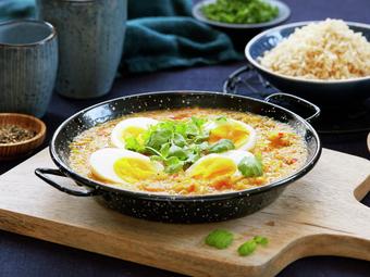 Enkel indisk curry med egg