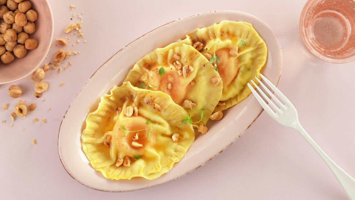 Ravioli med eggeplomme