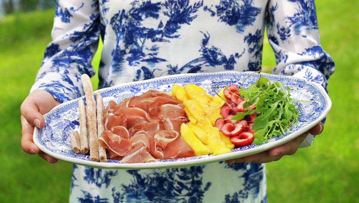 Salat med spekeskinke