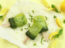 Basilikumsorbet med sitron