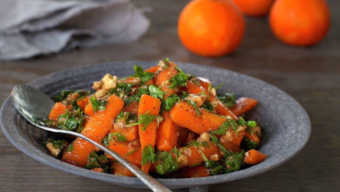 Klementinbakte gulrøtter