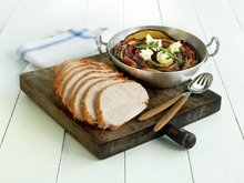 Marinert kalkunfilet med grønnsaksform