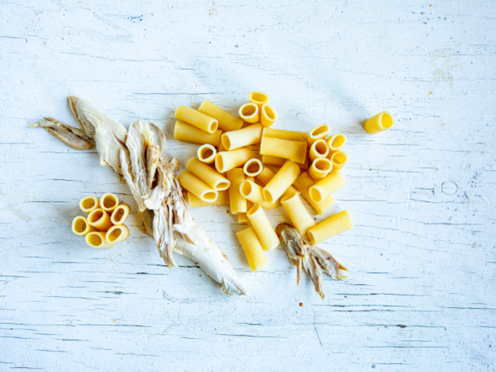 Fra pasta- og kyllingrester