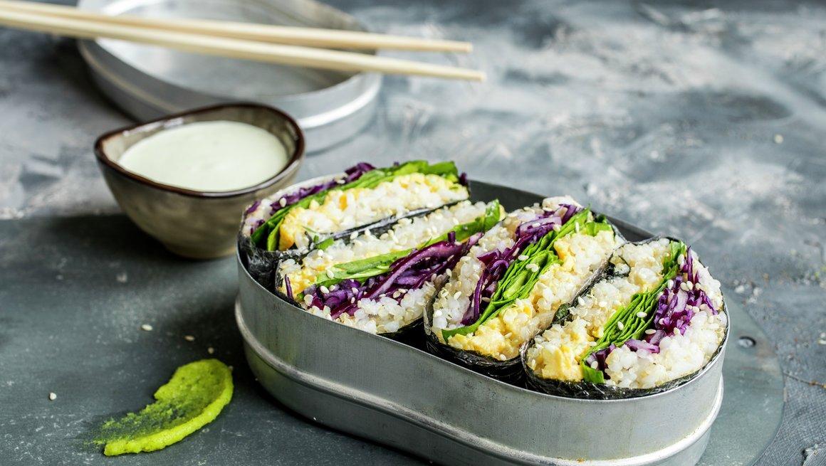 Sushi-sandwich med eggerøre
