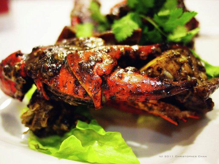 Svart pepper krabbe
