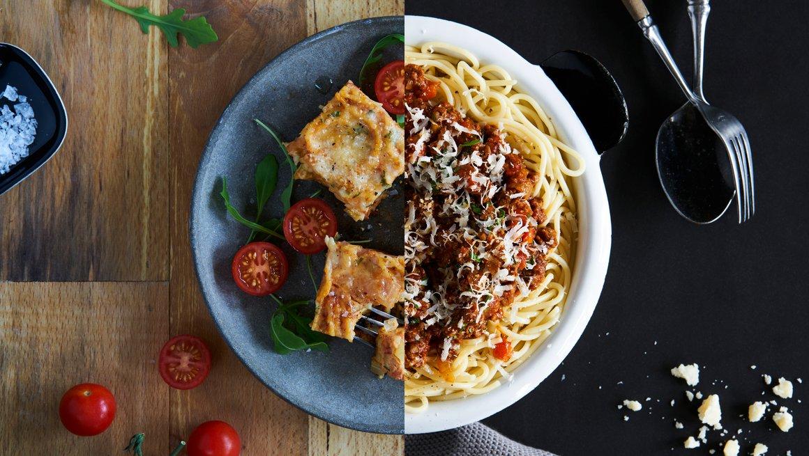 Spagettiomelett og Spagetti bolognese