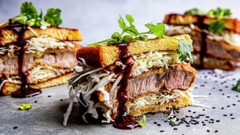 Sandwich med tonkatsu