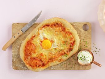 Pizza med egg