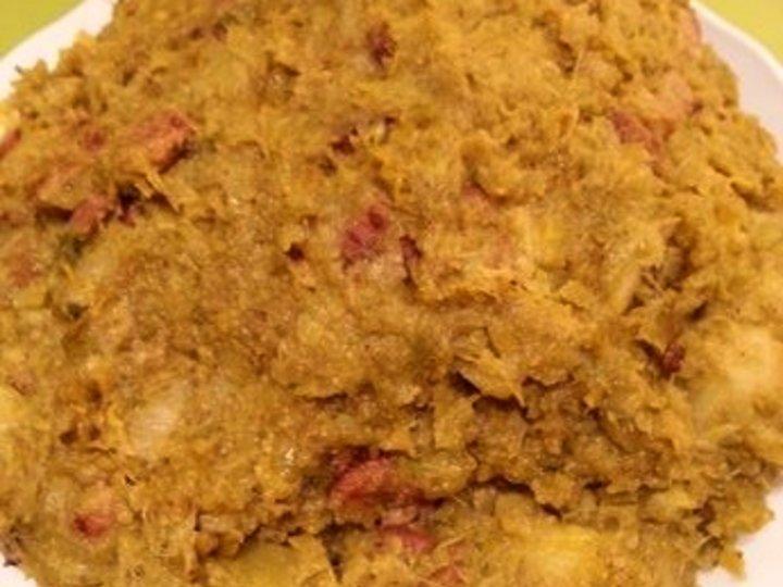 Rosenkål og baconstuing