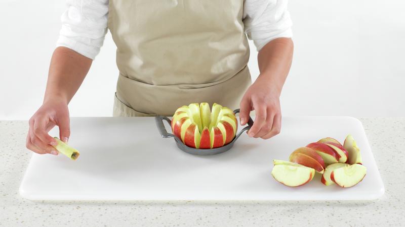Skattekiste med torsk og eple