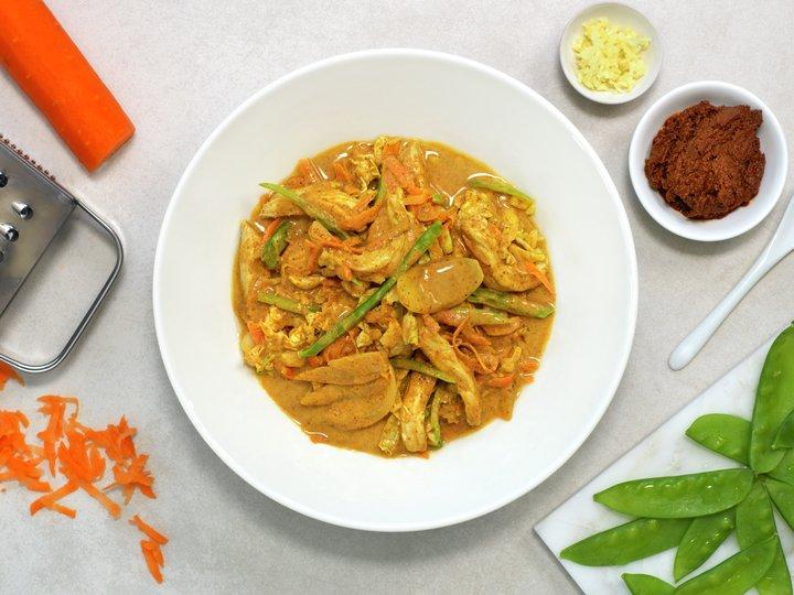 Indisk curry med strimlet svinekjøtt
