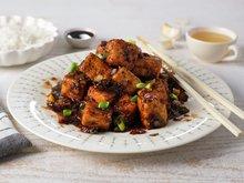 Stekt tofu med svartpeppersaus
