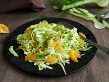 Fennikel- og klementinsalat
