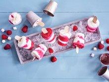 Yoghurts med bringebær