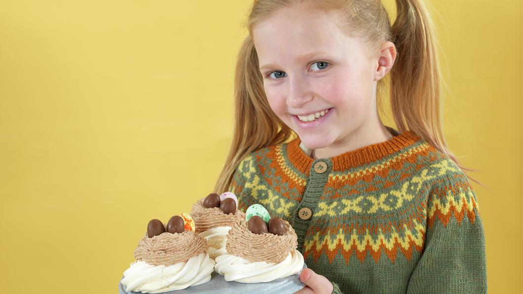 Pavlova med sjokoladekrem