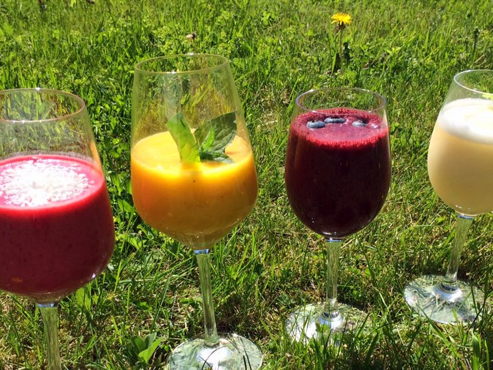 Fire friske smoothies