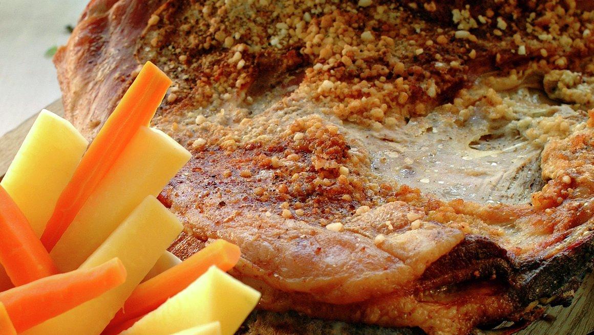 Sprøsteikt lammeside fra vest–telemark