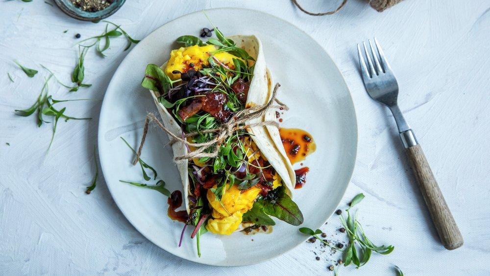 Wrap med eggerøre - alternativ 1