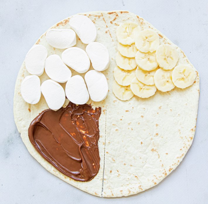 Søt tortillawrap