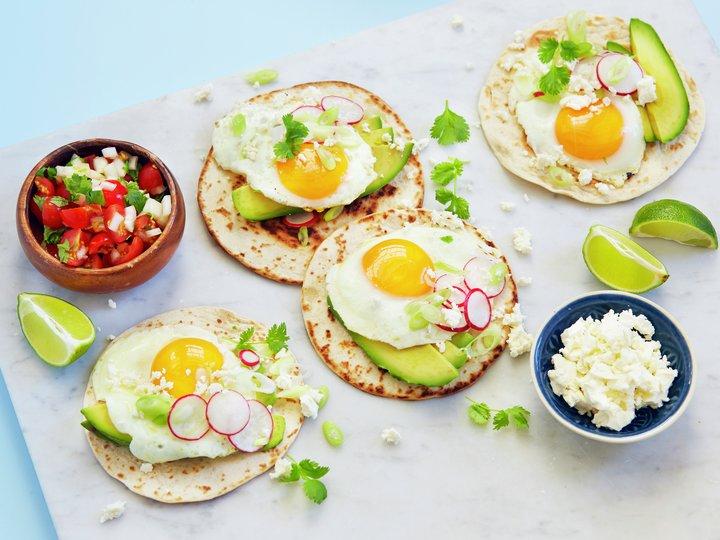 Taco med speilegg
