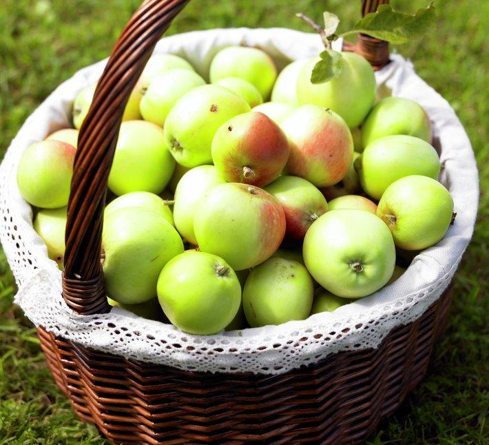 Epler i kurv