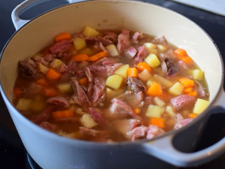 Høstsuppe med lam/betasuppe