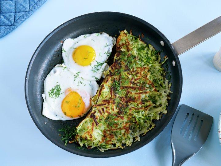 Røsti med squash og egg