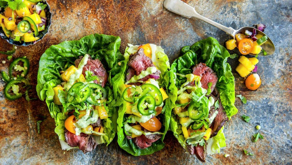 Taco i hjertesalat