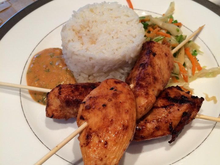 Thai kylling satay