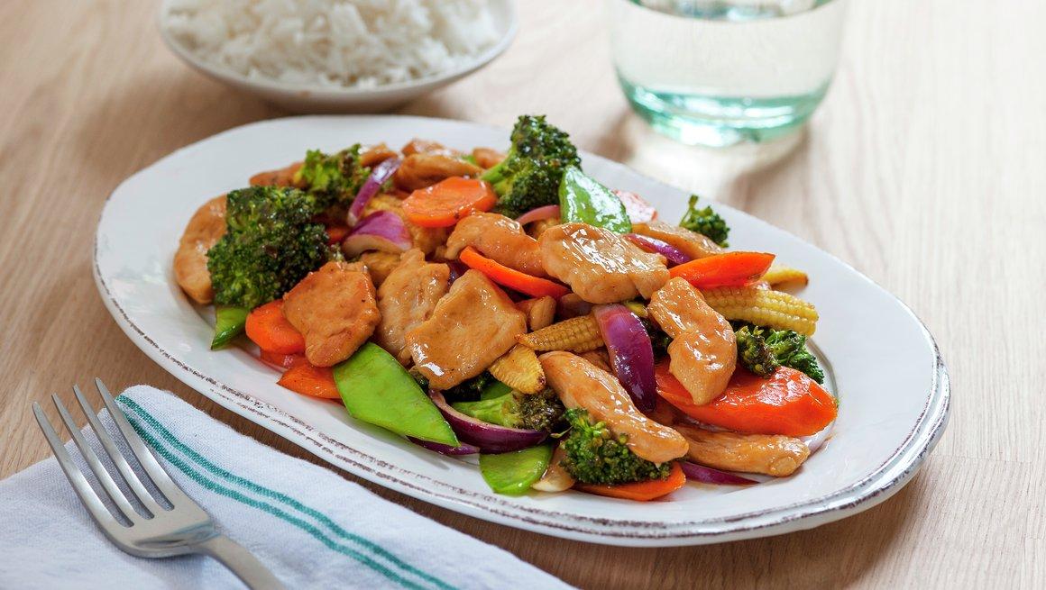 Kyllingwok med grønnsaker