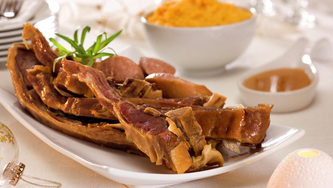 Pinnekjøtt med kålrotstappe