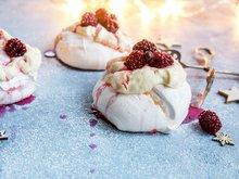 Mini pavlova med lune bjørnebær
