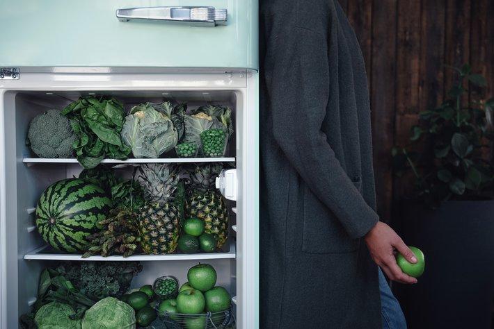 Grønne råvarer i kjøleskap miljø