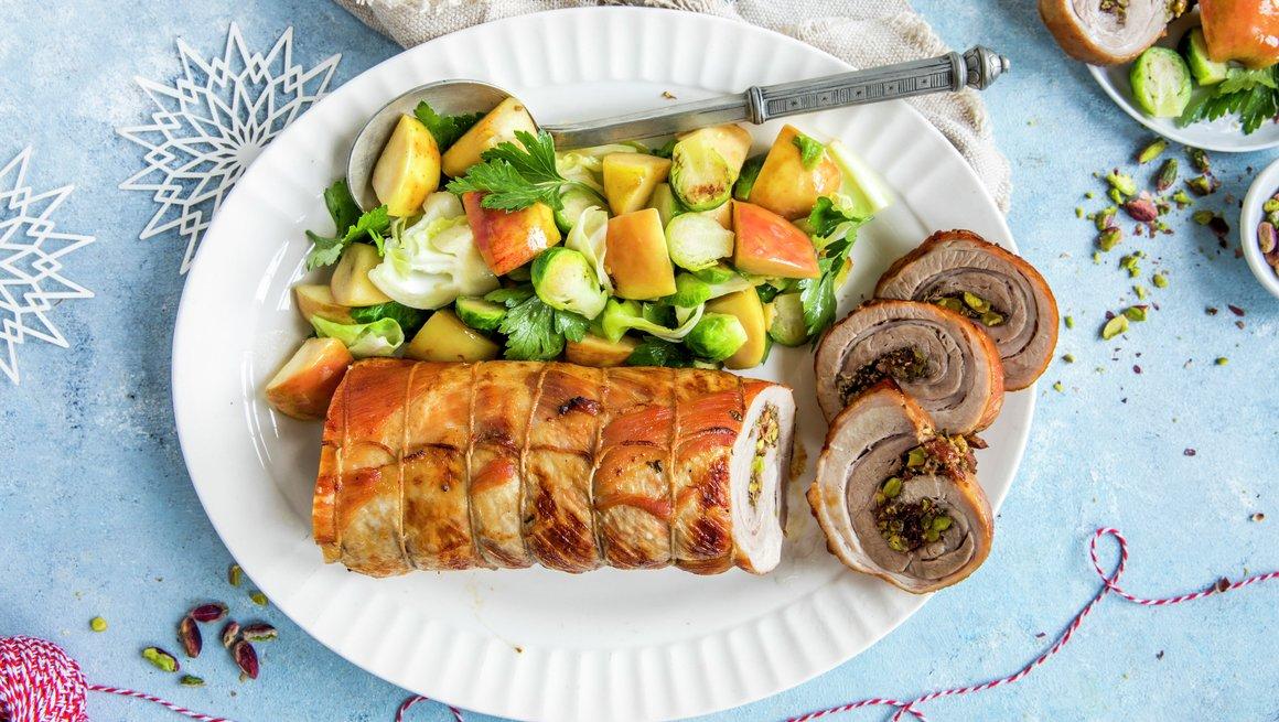 Porchetta - med eple og kål