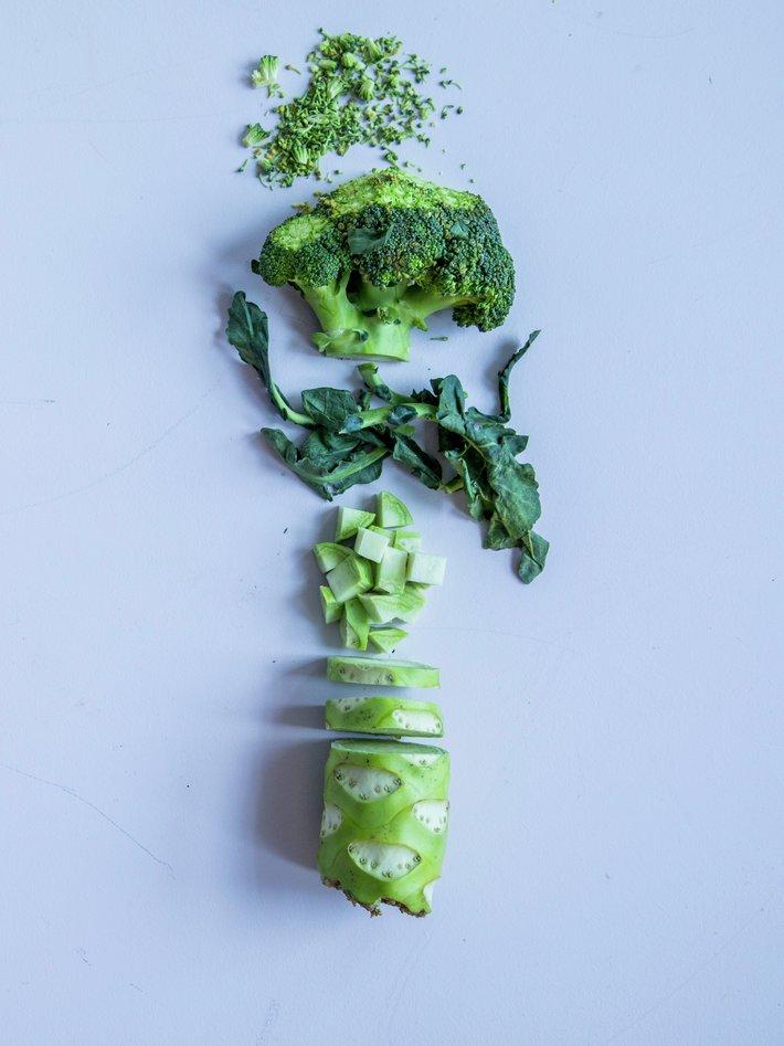Matsvinn illustrasjonsfoto brokkoli delt