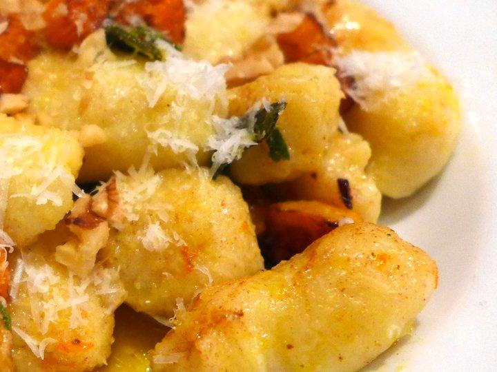 Gnocchi med gresskar og salviesmør