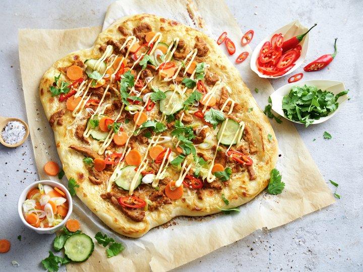 Pizza inspirert av Bánh Mì